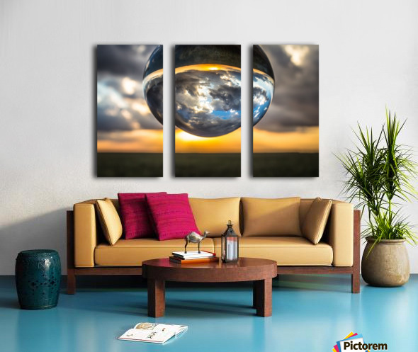 Lens Ball3 Split Canvas print