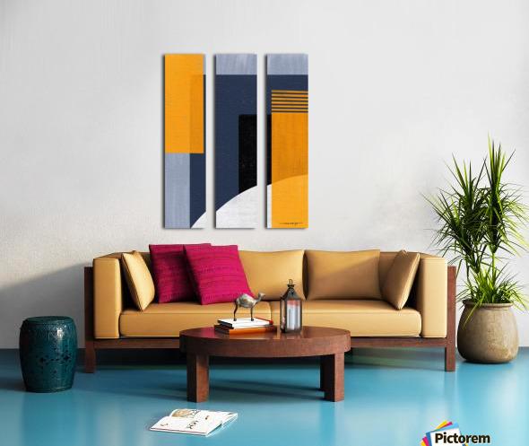 Abstract Geometric Space 1 Split Canvas print