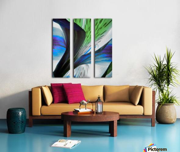 Vibrant Iris Split Canvas print