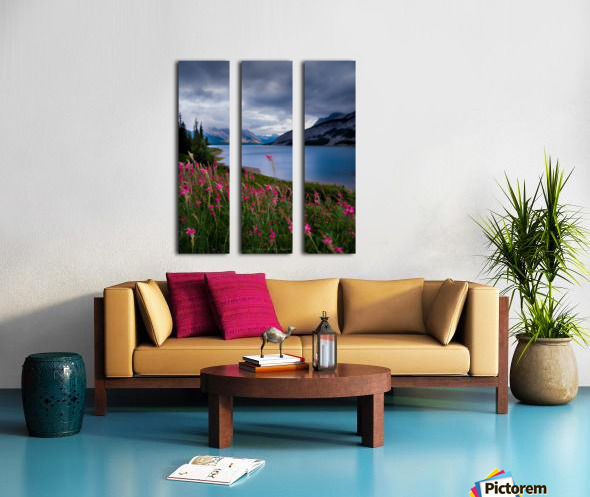 Spray lake  Split Canvas print