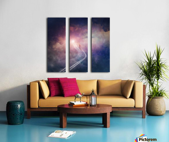 Road To Heaven Split Canvas print