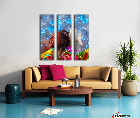 African Star Dreamer Split Canvas print