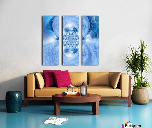Planetarium Fractal Split Canvas print