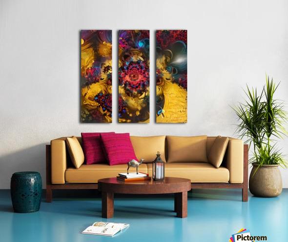 Colorful Fantasy Split Canvas print