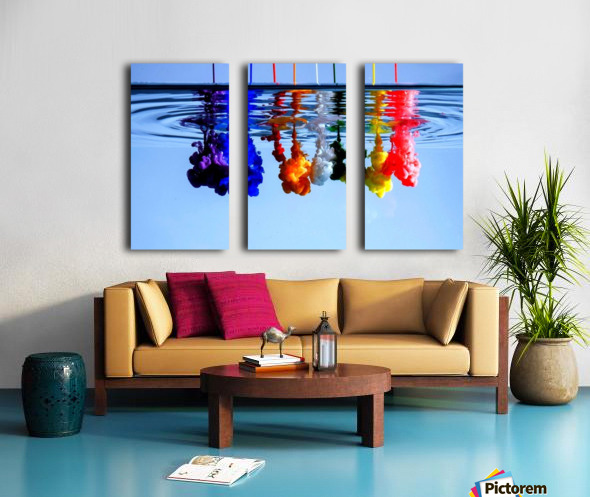 dribbles Split Canvas print