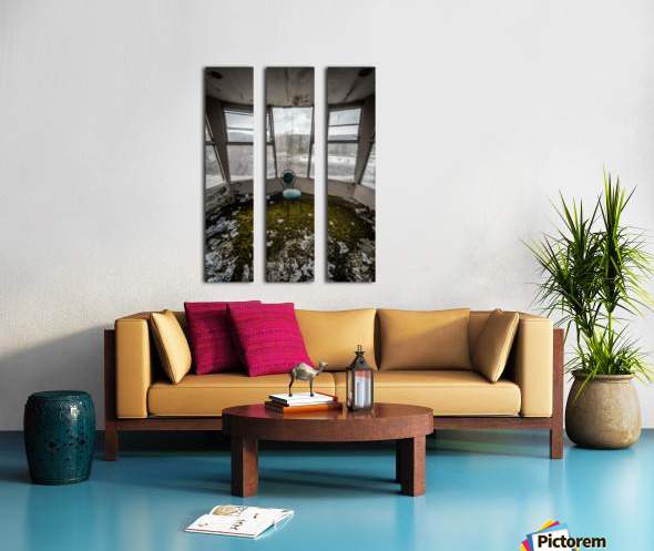 Abandoned Ski Resort Split Canvas print