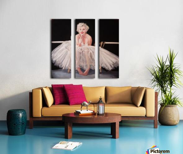 Marilyn ballerina sitting  Split Canvas print