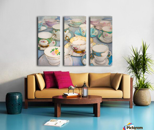Vintage tea cups 3622x4022  Split Canvas print