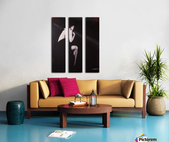 Marilyn black sitting 2 Split Canvas print