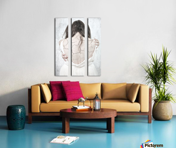 Plein le dos Split Canvas print