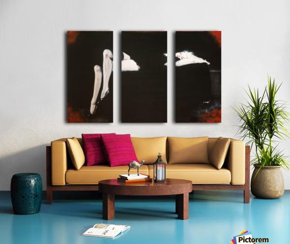 Marilyn black sitting 106   oil painting  portrait 1 Split Canvas print