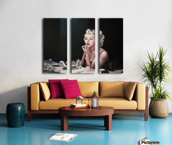 Marilyn backstage  oil painting  portrait 1 Split Canvas print