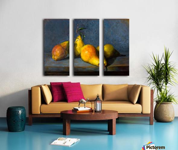 Quatre poires pour Anna  Split Canvas print