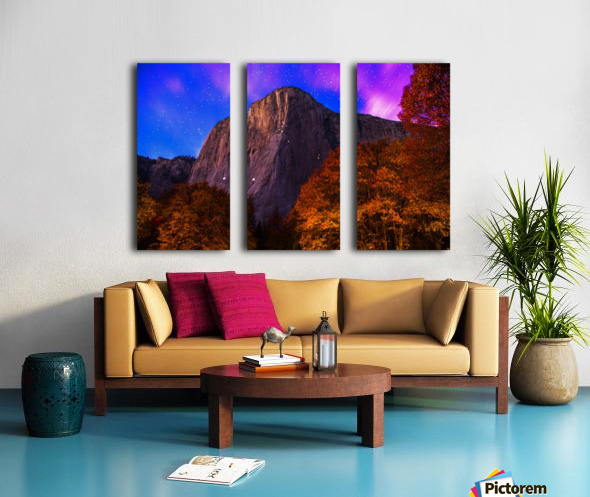 El Capitan Climbers at Night Yosemite National Park Split Canvas print