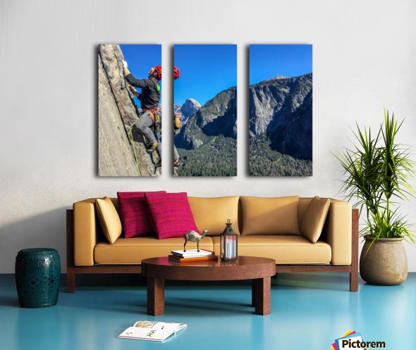 Climber on El Capitan Split Canvas print