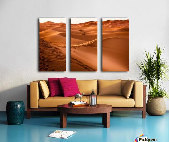Beautiful Nature Landscape Hot Sun Desert Sahara Sand Dune Dunes Hot Climate Photography landscape photo Scenery Split Canvas print