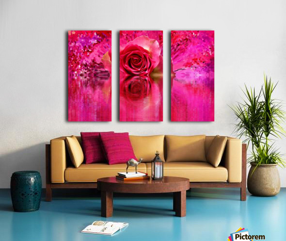 Beautiful colourful flower blossom flower background design floral home decor decoration  Split Canvas print