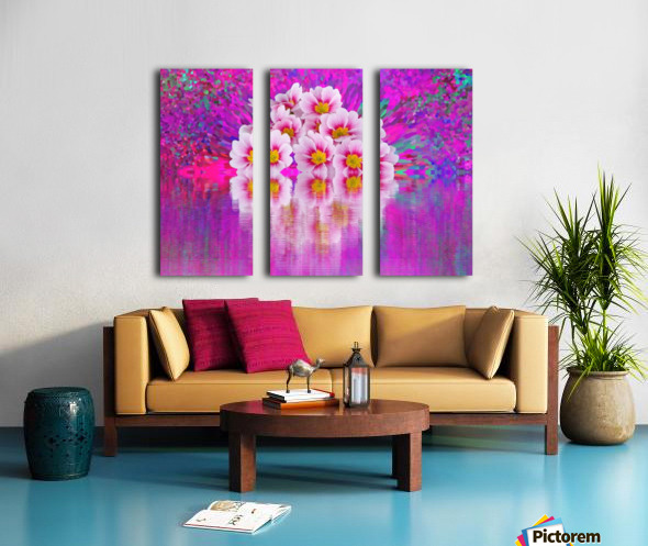 Beautiful colourful flower blossom flower background design floral home decor decoration  Split Canvas print