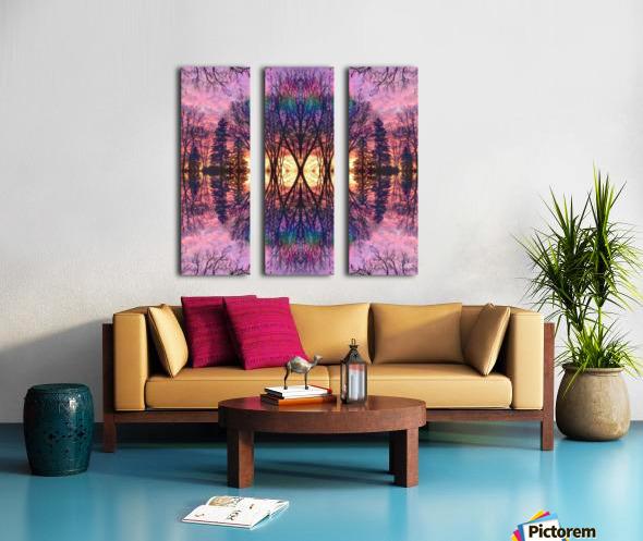 Midwest Sunrise Split Canvas print