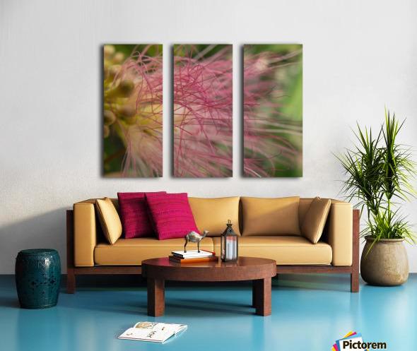 Pink Tangles Split Canvas print