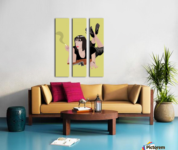 Pulp Fiction Split Canvas print