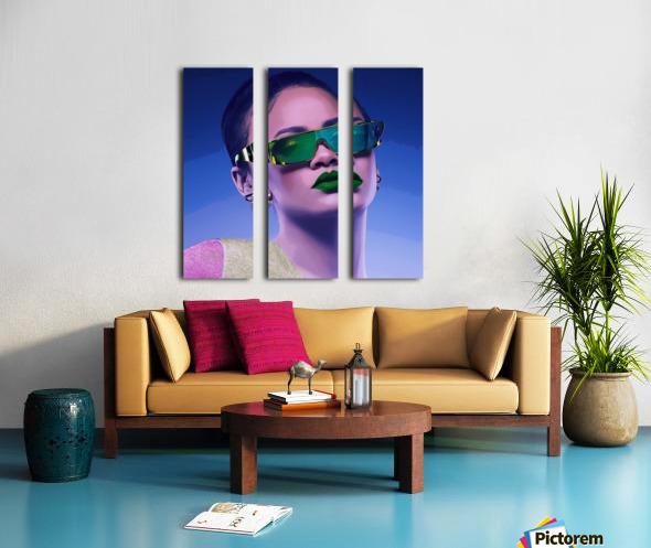 Rihanna Split Canvas print