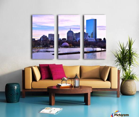 12.5.18 Skyline Boston Split Canvas print