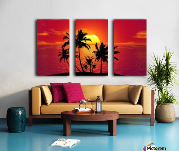 tropical 1651423 Split Canvas print