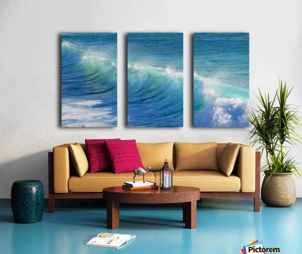 surf, water, wave, sea, nature, turquoise, ocean, splash, seashore, panoramic, spray, foam, Split Canvas print