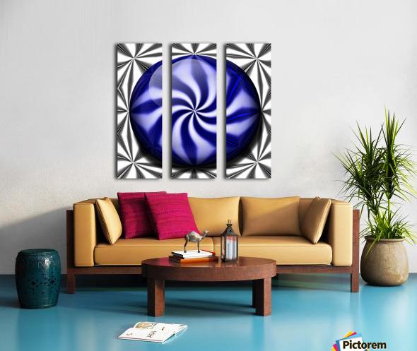 Twisted Mint Split Canvas print