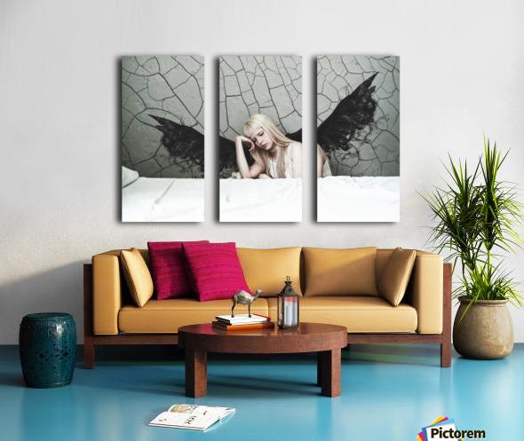 Find Me In The Cracks Split Canvas print