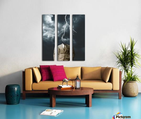 Lightning Strikes Split Canvas print