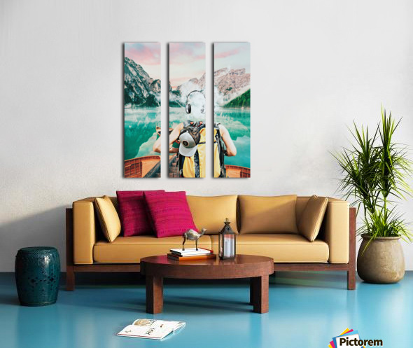 Traveling Tunes Split Canvas print