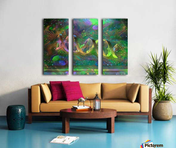 DNA Strand Artwork Split Canvas print