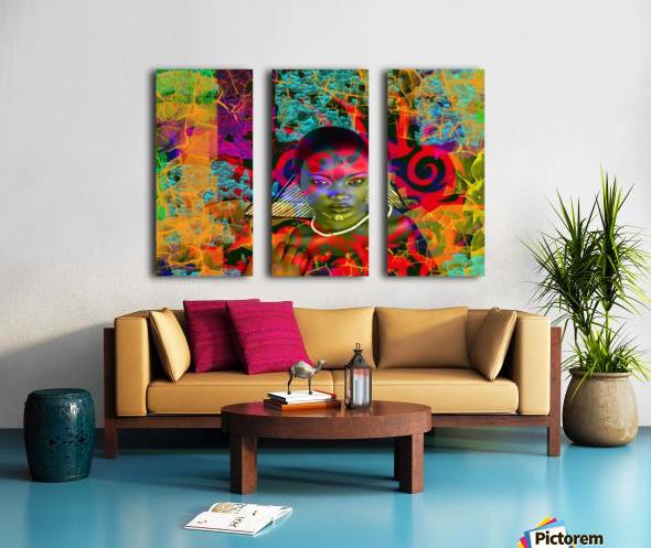 Lost in the Jungle Split Canvas print