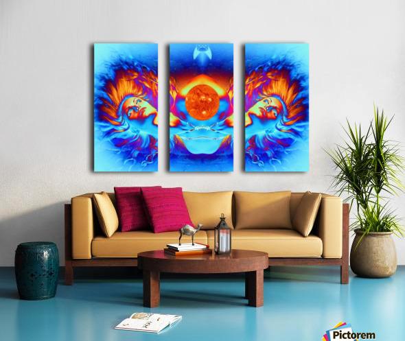 Escape from the Sun Split Canvas print