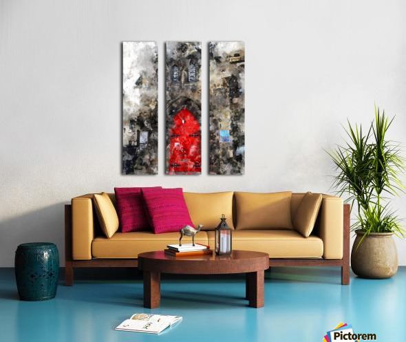 Red Door Edinburgh Split Canvas print