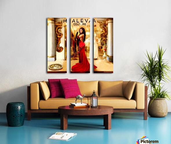 Golden button Split Canvas print