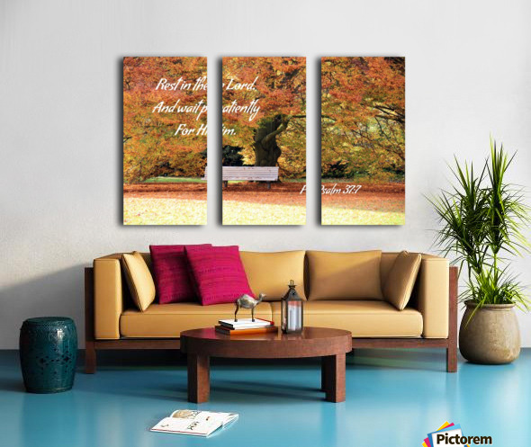 Rest in the Lord Split Canvas print