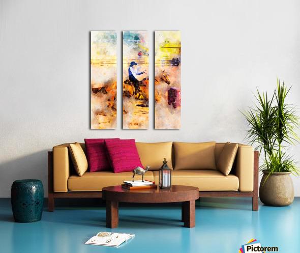 Rock Creek Rodeo Girl Split Canvas print