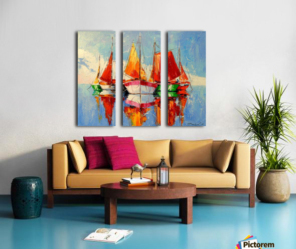 Boats in the morning Split Canvas print