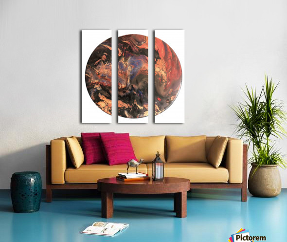 Lava Split Canvas print