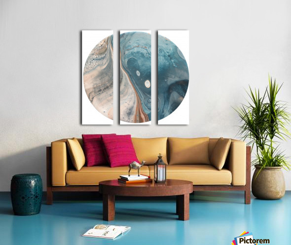 Tide Split Canvas print