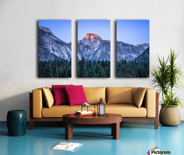 Half Dome Sunset Yosemite National Park Split Canvas print