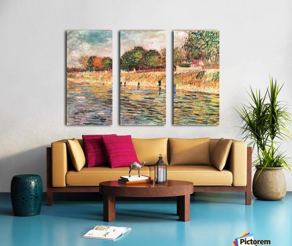 River bank by Van Gogh Split Canvas print