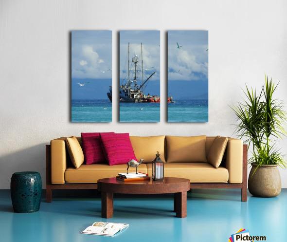 Aqua Split Canvas print