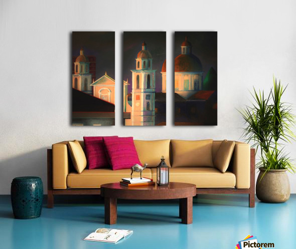 la basilica a Lavagna Split Canvas print