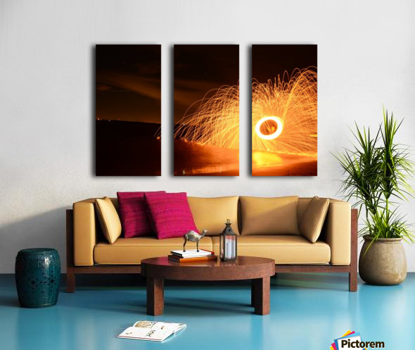Flaming Stars Split Canvas print