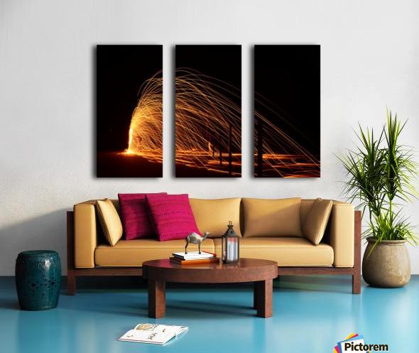 Majestic Flames Split Canvas print