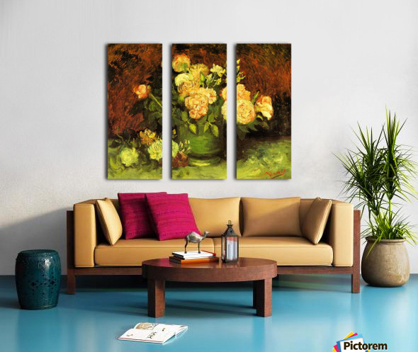 Roses by Van Gogh Split Canvas print
